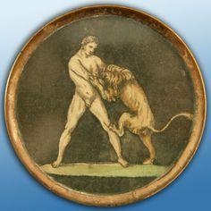 18th century Hercules button.