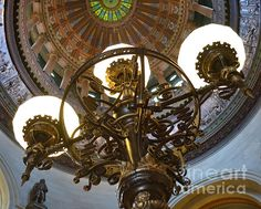 Title:  Ornate Lighting   Artist:  Pamela Briggs-Luther   Medium:  Photograph - Photography