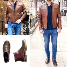 Benjamin C. Tan Leather Jackets, Leather Jacket Outfits, Dapper, Casual Looks, Mens Fashion, T Shirt, Videos, Photos, Instagram
