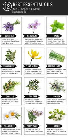 12 Best Essential Oils for Skin | http://HelloNatural.co