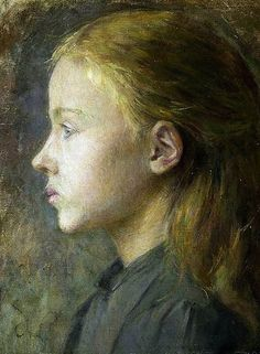Portrait of a Girl by Stanislow Wyspianski (1869 - 1907), Polish playwright, painter, and writer and someone I need to find out more about.