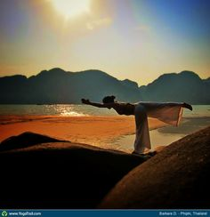 """#Yoga Poses Around the World: """"Warrior III Pose taken in Phiphi, Thailand by Barbara D."""""""