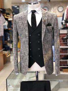 Slim-Fit Plaid Suit Vest Black