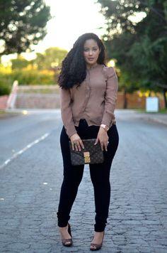 Love her style! Curvy girls FTW!  STOP #thinspo #pinterest #antithinspo
