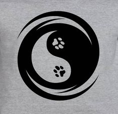 Your place to buy and sell all things handmade Cat Dog, Dog Paws, Yin Yang Art, Yin Yang Tattoos, Pet Shop, Photo Art, Tatoos, Lettering, Dogs