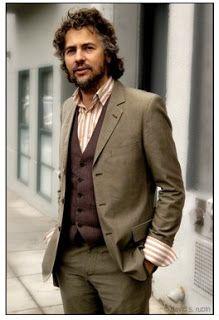 Wayne Coyne grey suit waistcoat