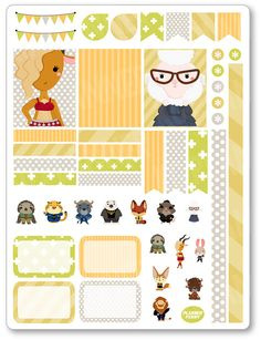 Animal Kingdom Decorating Kit / Weekly Spread Planner Stickers for Erin Condren…