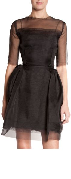 Lanvin Sheer Sleeve Dress