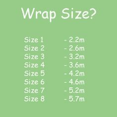 Wrap size = length
