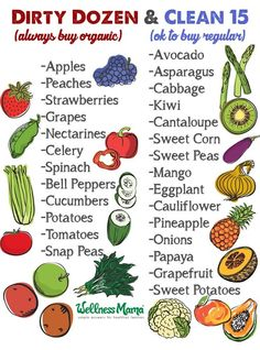 Dirty Dozena and Clean 15 Printable DIY Fruit and Vegetable Wash (& Preserver)