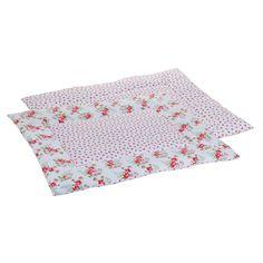 Laufgittereinlage weiß mit rosa Rosen 80x100 cm