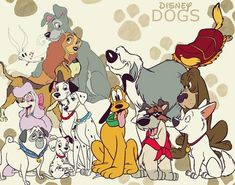 Disney Dogs - disney Fan Art