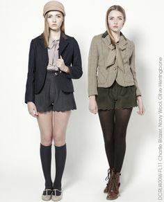 Charlle Blazer, Olive Herringbone by Dear Creatures, Autumn 2011