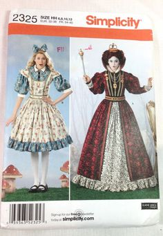 Alice in Wonderland Costume Pattern Simplicity by ProctorCreations