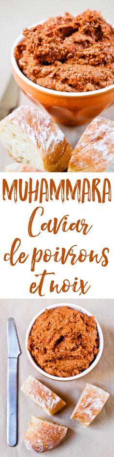 Une recette facile pour faire de la muhammara, un caviar de poivrons grillés mixés avec des noix et de la mélasse de grenade. Original et délicieux !