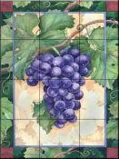 Featured Art - Cabernet Grapes by Paul Brent Grape Painting, Decorative Tile Backsplash, Vitrine Miniature, Fruit Picture, Fruits Images, Kitchen Wall Art, Kitchen Backsplash, Pallet Painting, Thing 1