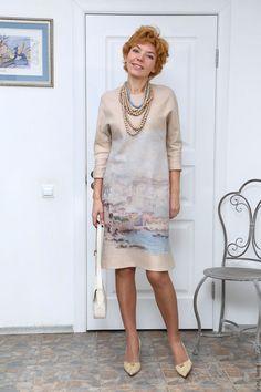 Платья ручной работы. валяное платье