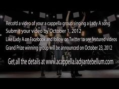 Here's personal video from us about our brand new a cappella contest!