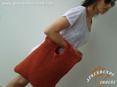 Bolsa de Praia em Crochê Isis Valverde - Acessórios em Crochê - Aprendendo Croche