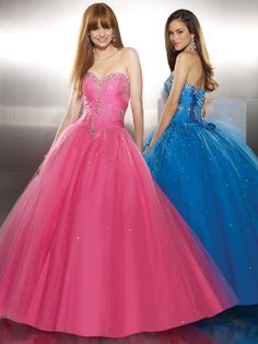 Ball Gown Sweetheart Tulle,Satin Floor-length Sleeveless Crystal Detailing Quinceanera Dresses at pickedlooks.com