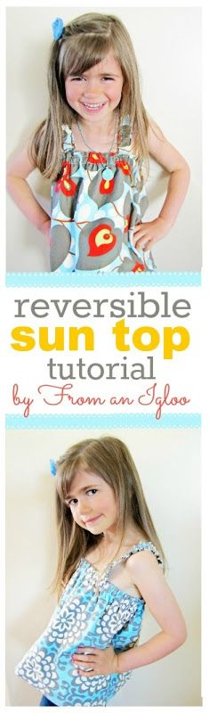 reversible sun top tutorial by From an Igloo