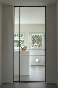 23 Ideas Glass Door Design For 2019 Entrance Doors, Patio Doors, Modern Entrance, Doorway, Steel Doors And Windows, Kitchen Doors, Glass Kitchen, Iron Doors, Internal Doors