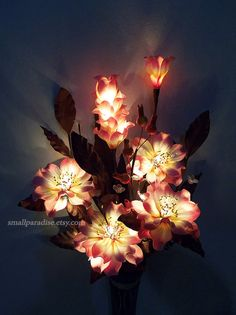 Artificial flower lamp Decorative Light Bouquet by smallparadise