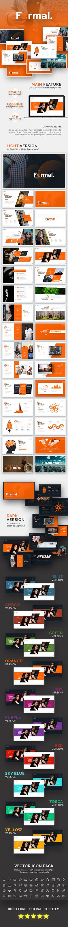 Formal Presentation Template - Business PowerPoint Templates