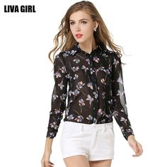 >> Click to Buy << 2017 New Women Shirt European Summer Style Fashion Printed Loose Chiffon Shirt Thin Chiffon Blouse Brand Women Tops ST017 #Affiliate