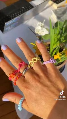 Fimo Ring, Polymer Clay Ring, Polymer Clay Crafts, Fimo Clay, Anel Tutorial, Diy Crafts Jewelry, Handmade Jewelry, Diy Clay Rings, Clay Art Projects