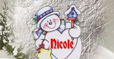 christmas pictures, snowman graphics, Nicole, personalised name graphics