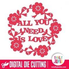 Todo lo que necesitas es Amor floral de la decoración