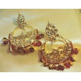 Kundan Gold Plated Elegant Big Danglers