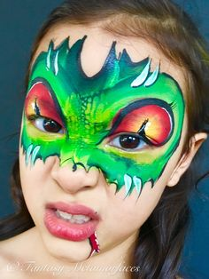 Dragon face painting - inspired by Florida Clown's painting