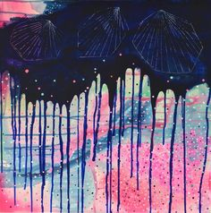 Abstrakt maleri af Rikke Ekelund