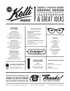 Cute CV design with a clear personal brand.  Not ideal for all job seekers, but definitely noteworthy for those working in creative fields.