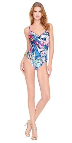 Gottex ~ Les Plumes Swimsuit in Multi Colours