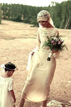 Bohemian Wedding Dresses, Wedding Veils, Fern Wedding, Backless Wedding, Hair Wedding, Vestidos Vintage, Vintage Dresses, After Prom Dresses, Jacqueline Kennedy Onassis
