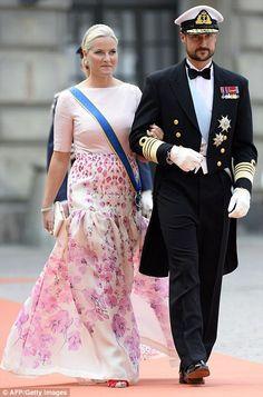 Crown Princess Mette-Marit of Norway and Crown Prince Haakon of Norway...