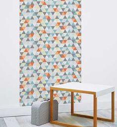 Papier peint scandinave multicolore Kaléidoscope Sophie Cordier