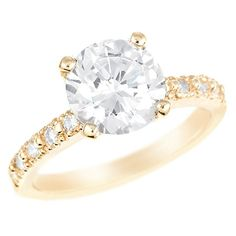 1 CTW Diamond Engagement Ring in 14K Yellow Gold