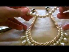 Χειροποίητες Κατασκευές κολιέ με κορδόνι και πέρλες