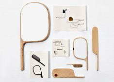 Paddle is a series of wooden bathroom accessories composed by mirrors, shelves, a towel holder, a coat hanger and a comb. The design of this collection comes from the nautical world, they evoke a paddle or the rudder of a boat.