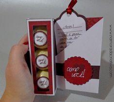 DIY: Cartão / Mini caixinha de bombons | Namorada Criativa - Por Chaiene Morais Valentine Gifts, Diy And Crafts, Blog, Chocolate, Holiday Decor, Kit, Professor, Html, Paper Art
