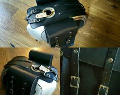 BMW r45 r65 r80 r100 leather tank bags cafe racer by maxakaido
