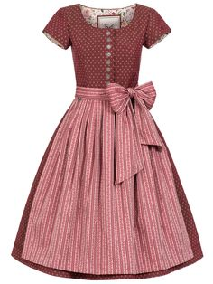 "Cocovero-Dirndl ""Madleine Sunset Red"" in Dunkelrot"
