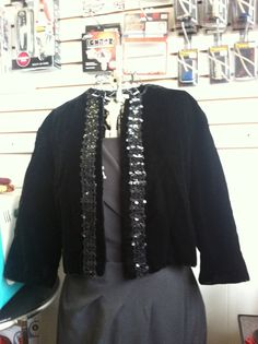 Vintage 1950s Black Velvet Bolero Formal by ReuttersGeneralStore, $45.00