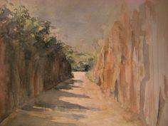 Caminhos da Chapado do Araripe- aquarela