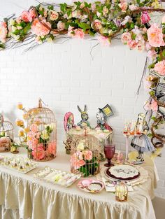 truly alice in wonderland tea party