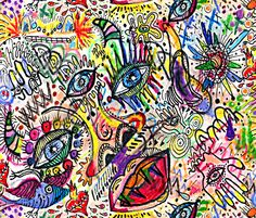 #SFDesignADay watercolor doodle - amy_g - Spoonflower